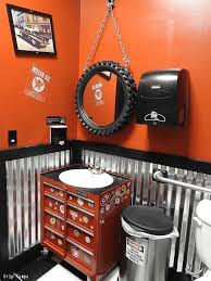 man cave bathroom. Delighful Bathroom The Perfect Man Cave Bathroom For Anyone Who Loves Car Or Hanging Out In  The Garage See DIY Steps To Creating A Garage At Home And Man Cave Bathroom H