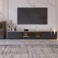 tv stand stone top 4 drawer glass doors