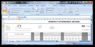 Attendance Report Template Custom Download Class Monthly Attendance Report