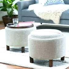 fabric ottoman coffee table round and medium size of ottomans large storage diy