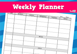Teacher Weekly Planners Weekly Planner Teacher Resources And Classroom Games Teach This