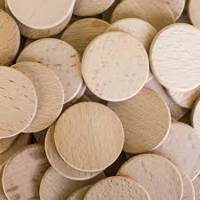 round unfinished 1 5 wood cutout circles tags chips for arts crafts projects board game pieces ornaments 100 pieces by super z com