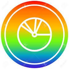 Rainbow Pie Chart Pie Chart Circular Icon With Rainbow Gradient Finish