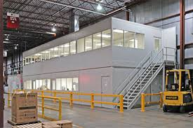 warehouse mezzanine modular office. We Have Incorporated Our Steel Mezzanine Structures With Partition Systems To Allow You The Flexibility Of Building Office And Storage Space Above Or Warehouse Modular H