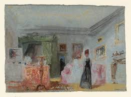 Lady Bedroom A Bedroom A Lady In Dressed In Black Standing In A Room With A