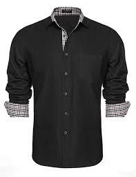 Simbama Mens Dress Shirts Slim Fit Long Sleeve Casual Button Down Shirts