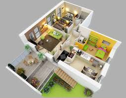 One  Bedroom ApartmentHouse Plans Bedroom Apartment And - Small apartment floor plans 3d