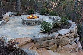 spectacular idea of stone fire pit seating