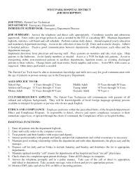 Patient Care Technician Resume With No Experience Patient Care Technician Cover Letter No Experience Delightful