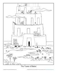 Small Picture The Tower of Babel Coloring Page Printable Sheet