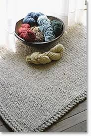 Knitted Rectangular Rug - Halcyon Classic Rug Wool