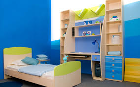 kids bedroom paint designs. blue and white paint color ideas for kids bedroom design with small bed frame writing desk designs