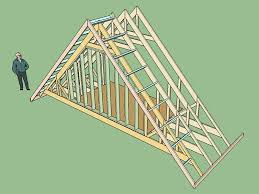 re gable end attic truss with structural outlookers