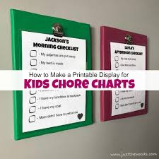 Chore Chart Staples How To Make A Printable Display For Kids Chore Charts