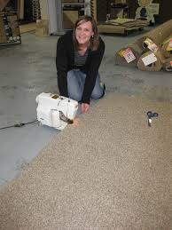 here is a picture of katie making a bound rug to make a bound rug you need