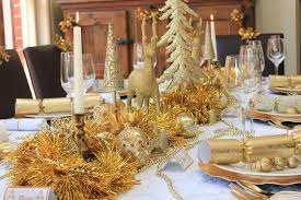 Christmas Table Gold and White design