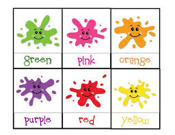 Learning Colours For 3 Year Olds Learning Colors Printable Childrens