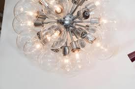 mid century modern 1950s sputnik glass globe chandelier in chrome by lightolier for