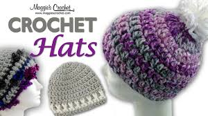 Youtube Free Crochet Patterns Amazing Serenity Pompom Hat Free Crochet Pattern Right Handed YouTube