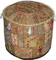 Home accessory: <b>pouf patchwork pouffe</b> moroccan <b>ottoman</b> bean ...