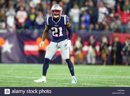 Gillette Stadium. 14th Oct, 2018. MA, USA; New England Patriots defensive  back Duron Harmon (21) during