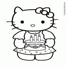 Geweldige Kleurplaten Hello Kitty Met Hartjes Krijg Duizenden