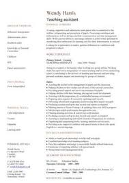 Teacher Assistant Resume Job Description - Teacher Assistant Resume ...