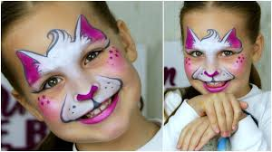super fast easy kitty cat face painting makeup for kids you