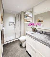 bathrooms will have quartzite countertops and porcelain tile floors handout for westcoast homes bathrooms