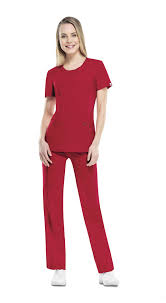 Cherokee Infinity Scrubs Round Neck Antimicrobial Top