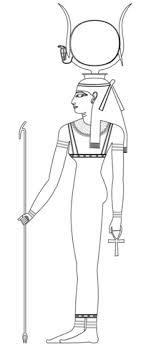 Hathor Oude Egyptische Godin Kleurplaat Egypte In 2019 Egyptian