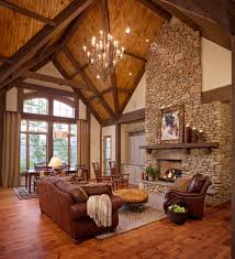 Living Rooms With Area Rugs Rock Fireplace In Living Room Rustic With Area Rug Arched Window