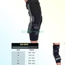 Donjoy Knee Brace Size Chart Donjoy Neoprene Knee Brace Undersleeve Only Black New 11