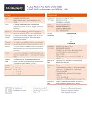 a level physics key terms cheat sheet by 0lliec free from cheatography cheatography com cheat sheets for every occasion