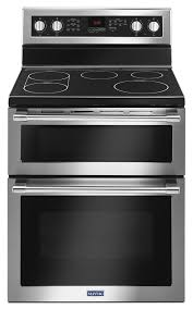 maytag 30 inch wide double oven electric range with true convection 6 7 cu ft