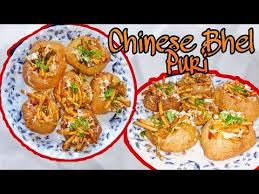 chinese bhel puri recipe how to make puri for pani puri indian street food