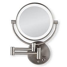 bathroom mirror. image of zadro™ 10x/1x cordless led lighted wall mirror bathroom