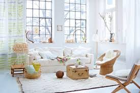 white living room with shabby chic sofa
