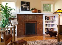 including just a few decoratives in a motawi art tile fireplace allows the beautiful glazes