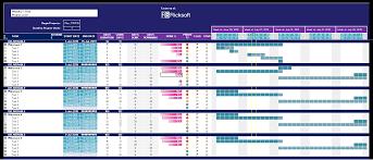 033 Excel Basic Project Gantt Chart Template Microsoft