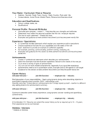 Resume Activities Examples Sample Of For Security Guard With