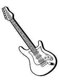 Ideal for acoustic, electric and bass guitars designs printed in vibrant full color on your choice of single or double side buy in bulk… The Electric Guitar Coloring Page Guitar Drawing Guitar Outline Guitar Art