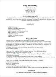 ♑ 40 Welder Resume Examples Amazing Welding Resume