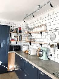 floating kitchen shelves sleek white wooden countertop with regard to design 47