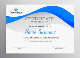Professional Certificates Templates Modern Blue Professional Certificate Template Vector Free Download
