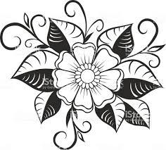 ромашка цветок силуэт изолированные на белом фоне векторные