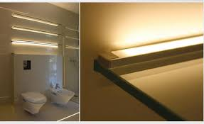 led canister lights bathroom led accent lighting on shelves using led strips housed in surface mount