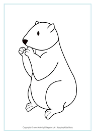 Small Picture Groundhog Colouring Page