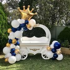 SLSGZX mini large gold crown <b>helium balloon princess</b> crown <b>foil</b> ...