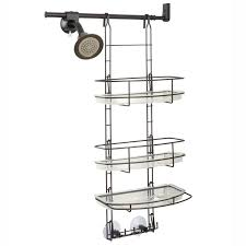 zenna home e2601hb make a space side mount shower caddy with self